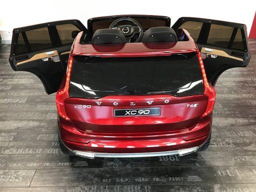 voiture electrique 12v avec telecommande parentale rouge métal